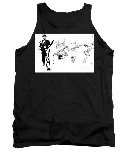 Tank Top featuring the photograph Back In Early Twenties. by Yurix Sardinelly