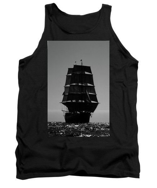 Back Lit Tall Ship Tank Top