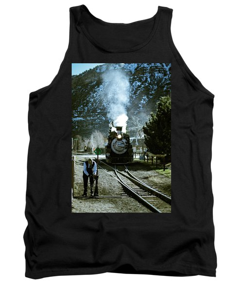 Backing Into The Station Tank Top by Jason Coward