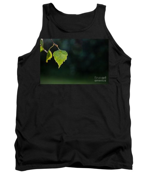Tank Top featuring the photograph Backlit Shiny Leaf by Kennerth and Birgitta Kullman