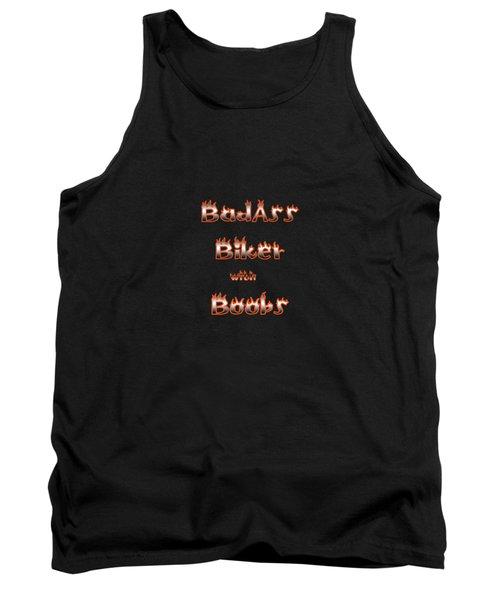 Badass Biker Boobs Tank Top