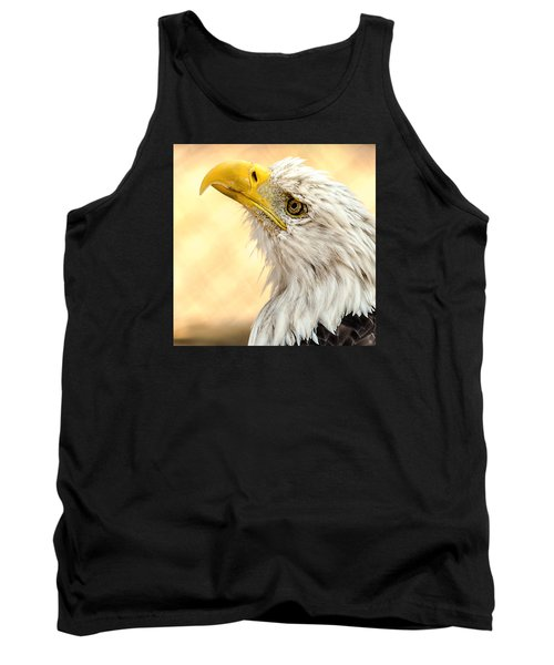 Tank Top featuring the photograph Bald Eagle Portrait by Yeates Photography