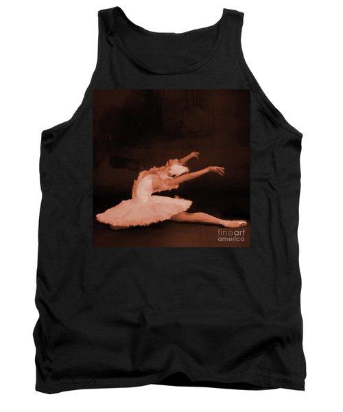 Ballet Dancer In White 01 Tank Top