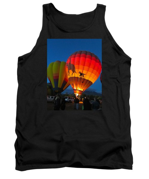 Tank Top featuring the photograph Balloon Glow by Brenda Pressnall