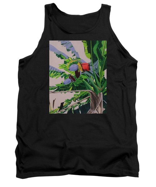 Tank Top featuring the painting Bananas by Hilda and Jose Garrancho
