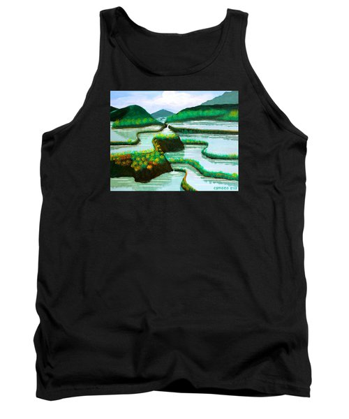 Tank Top featuring the painting Banaue by Cyril Maza