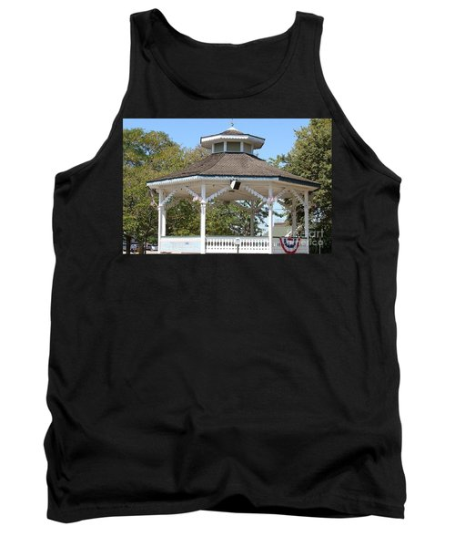 Bandshell In Plymouth, Mass Tank Top by Rod Jellison