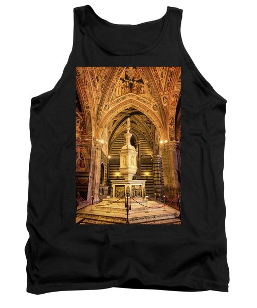 Tank Top featuring the photograph Baptistery Siena Italy by Joan Carroll