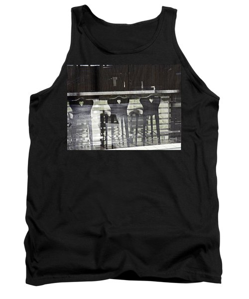 Tank Top featuring the photograph Bar And Stools by Sarah Loft