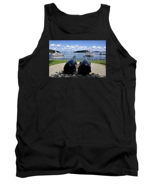 Bar Harbor - Maine - Canons At Agamont Park Tank Top by Brendan Reals