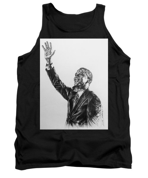 Tank Top featuring the painting Barack Obama by Darryl Matthews