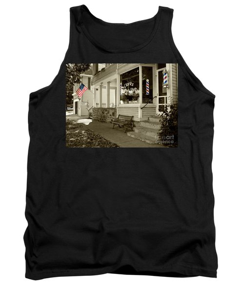 Clarks Barber Shop With Color Tank Top