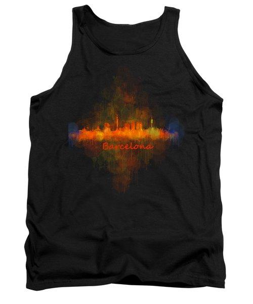 Barcelona City Skyline Uhq _v4 Tank Top