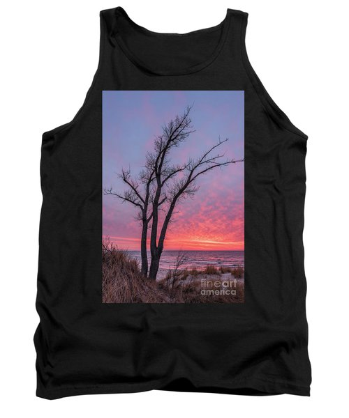 Bare Trees Overlooking A Beautiful Sunset Tank Top