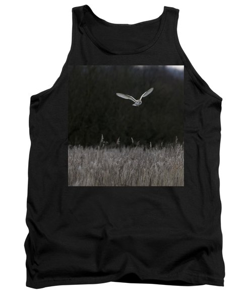 Barn Owl Hunting At Dusk Tank Top