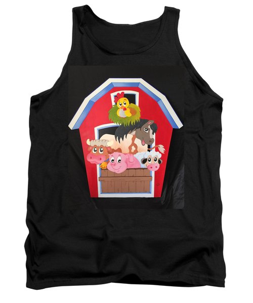 Barn With Animals Tank Top