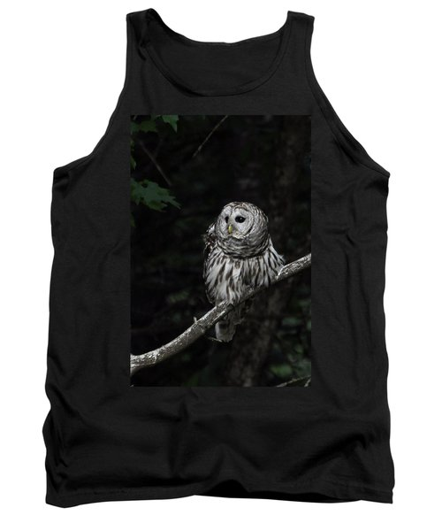 Tank Top featuring the photograph Barred Owl 2 by Glenn Gordon
