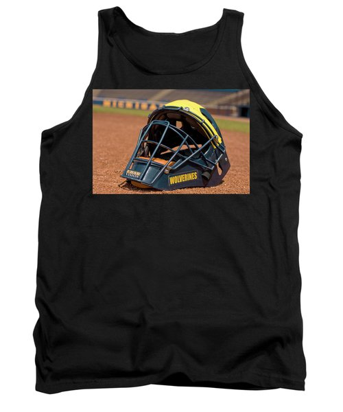 Baseball Catcher Helmet Tank Top