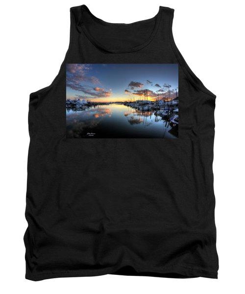 Bass Harbor Sunset Tank Top by John Loreaux