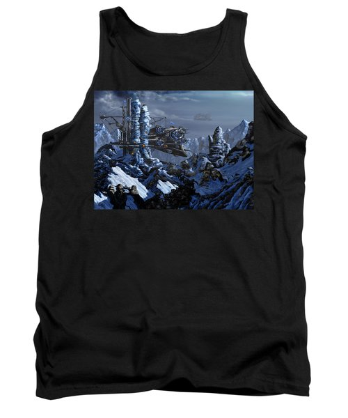 Tank Top featuring the digital art Battle Of Eagle's Peak by Curtiss Shaffer
