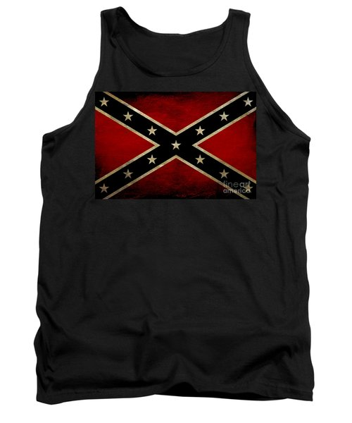 Battle Scarred Confederate Flag Tank Top by Randy Steele