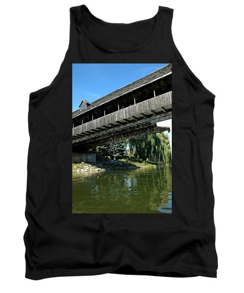 Tank Top featuring the photograph Bavarian Covered Bridge by LeeAnn McLaneGoetz McLaneGoetzStudioLLCcom