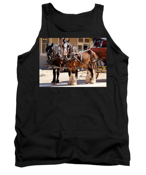 Bay Colored Clydesdale Horses Tank Top