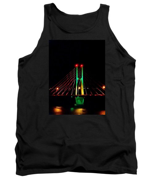 Bay View Christmas Lights Tank Top by Justin Moore