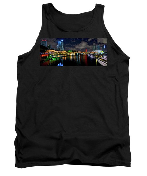 Bayside Miami Florida At Night Under The Stars Tank Top