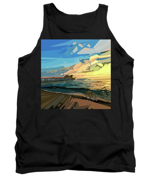 Beach Tank Top by Bekim Art