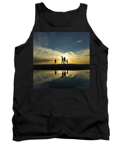 Beach Dancing At Sunset Tank Top
