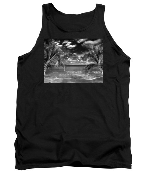 Tank Top featuring the mixed media Beach Of Forgotten Colours by Gabriella Weninger - David