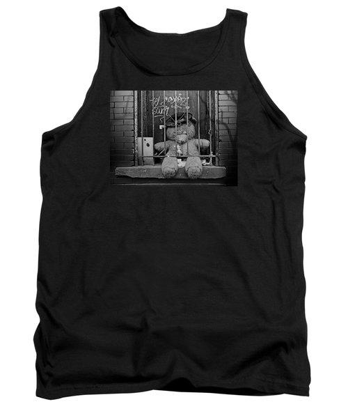Tank Top featuring the photograph Bear Behind Bars by Nina Bradica