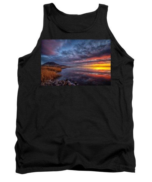 Bear Butte Lake Sunrise Tank Top