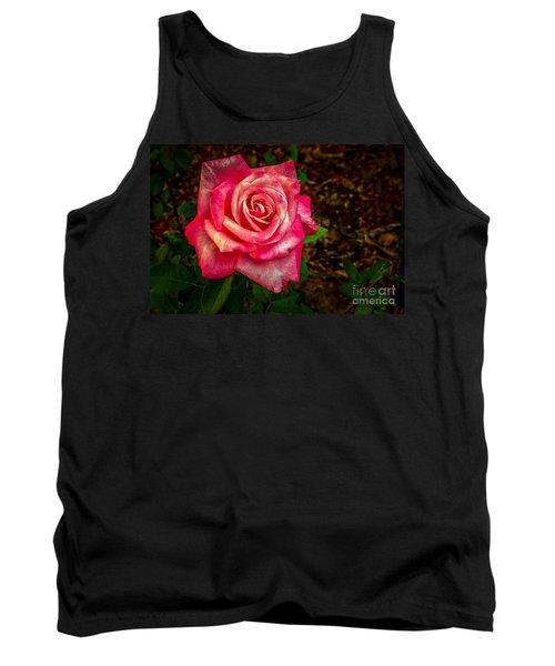 Beautiful Bicolor Rose Tank Top