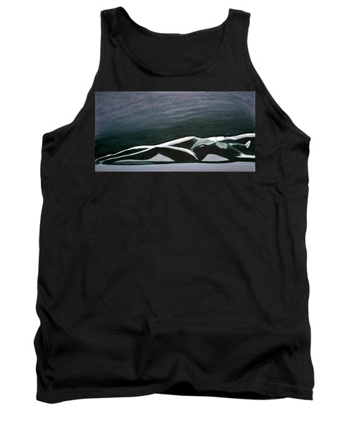 Tank Top featuring the painting Beautiful Diver by Jarmo Korhonen aka Jarko