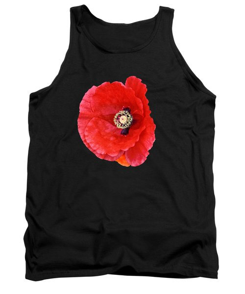 Tank Top featuring the photograph Beautiful Red Poppy Papaver Rhoeas by Marianne Campolongo