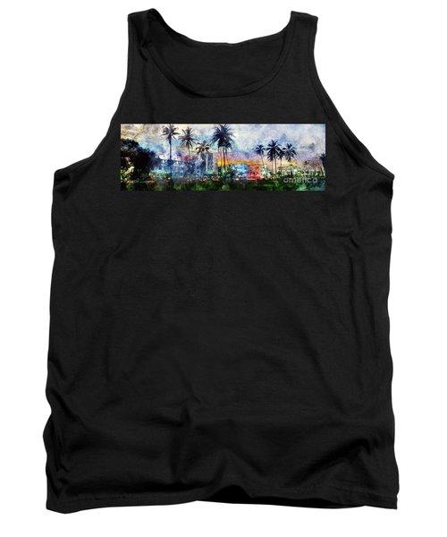 Beautiful South Beach Watercolor Tank Top