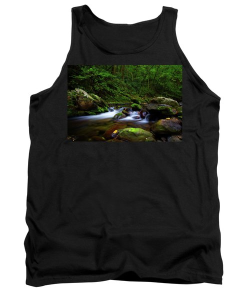 Beautiful Stream In Tremont Smoky Mountains Tennessee Tank Top