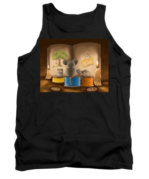 Tank Top featuring the painting Bedtime Story by Veronica Minozzi
