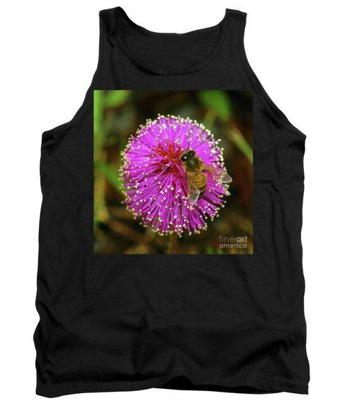 Bee On Puff Ball Tank Top by Larry Nieland