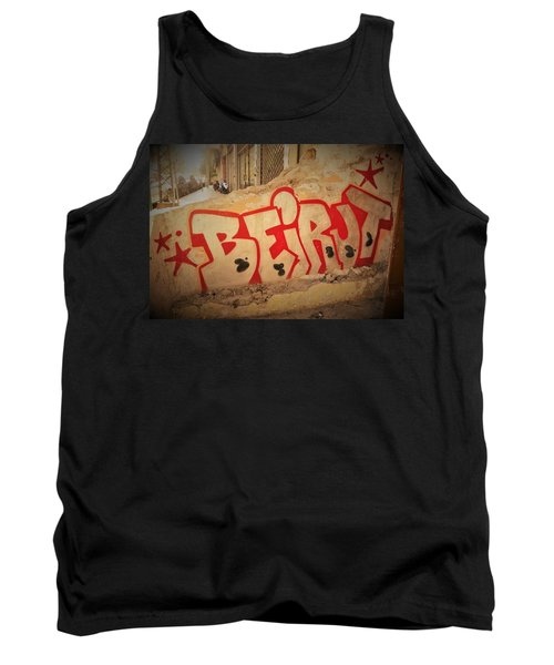 Beirut On A Graffiti Wall Tank Top