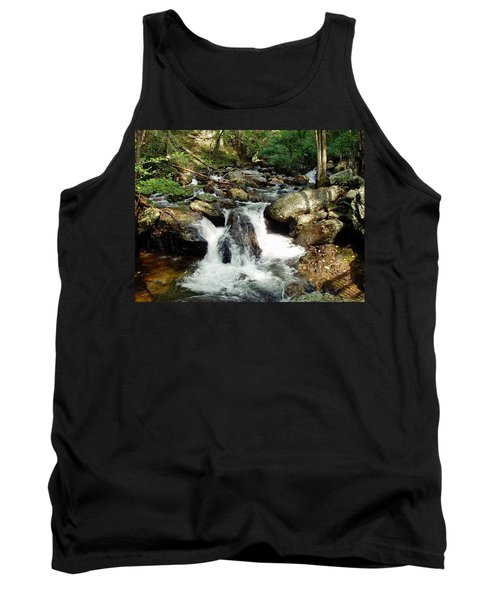 Tank Top featuring the photograph Below Anna Ruby Falls by Jerry Battle