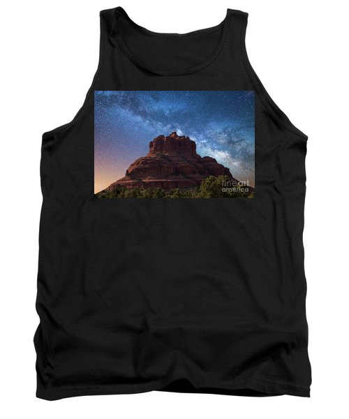 Below The Milky Way At Bell Rock Tank Top