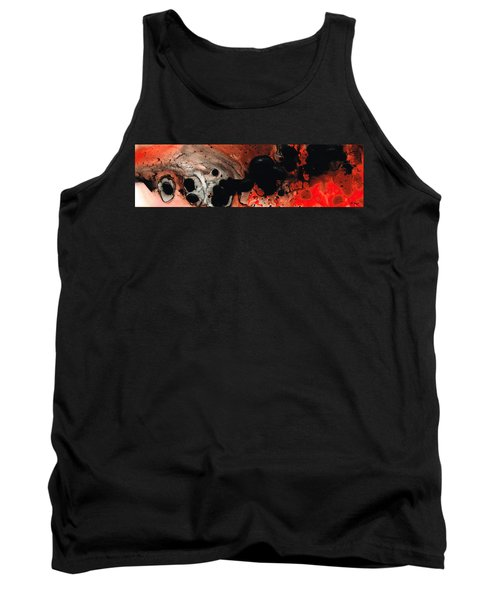 Beneath The Fire - Red And Black Painting Art Tank Top