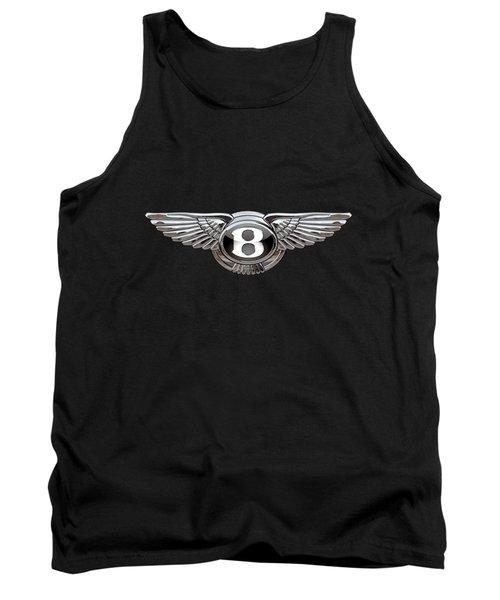 Bentley - 3d Badge On Black Tank Top by Serge Averbukh