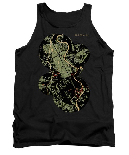Berlin Engraving Map Tank Top by Jasone Ayerbe- Javier R Recco