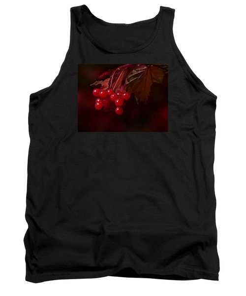 Tank Top featuring the photograph Berry Red by Judy  Johnson