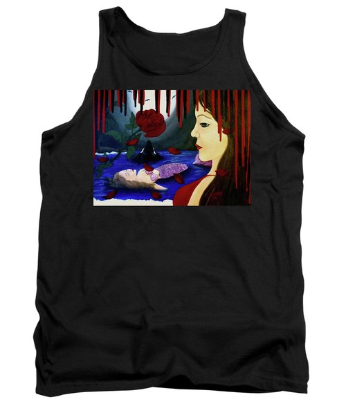 Tank Top featuring the painting Betrayal by Teresa Wing