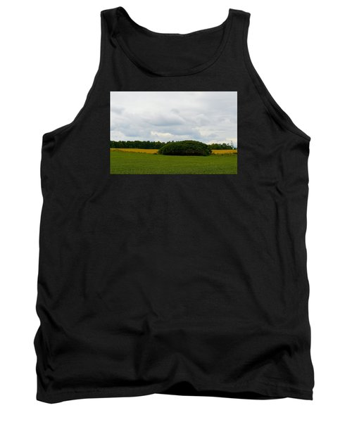 Tank Top featuring the photograph Between The Fields by Lyle Crump